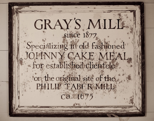 Gray's Grist Mill Vintage Sign
